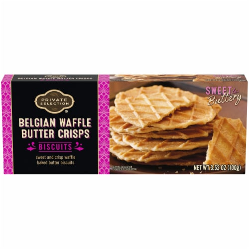 Private Selection® Belgian Waffle Butter Crisps Biscuits Perspective: front