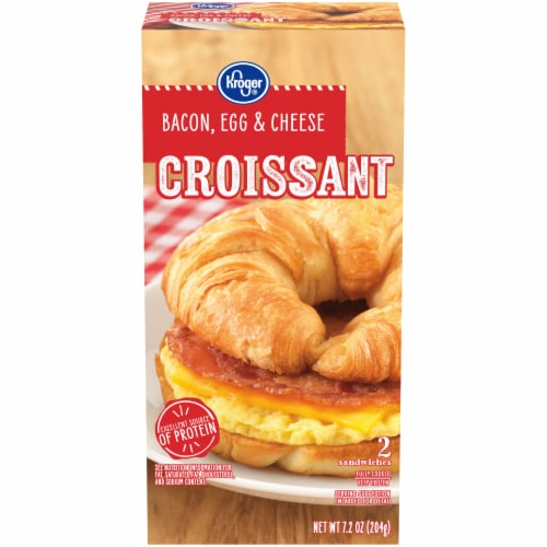 Kroger® Bacon Egg & Cheese Croissant Sandwiches Perspective: front