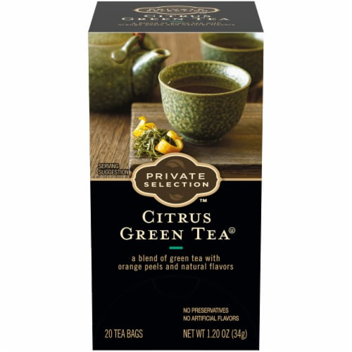 Private Selection™ Citrus Green Tea Bags Perspective: front