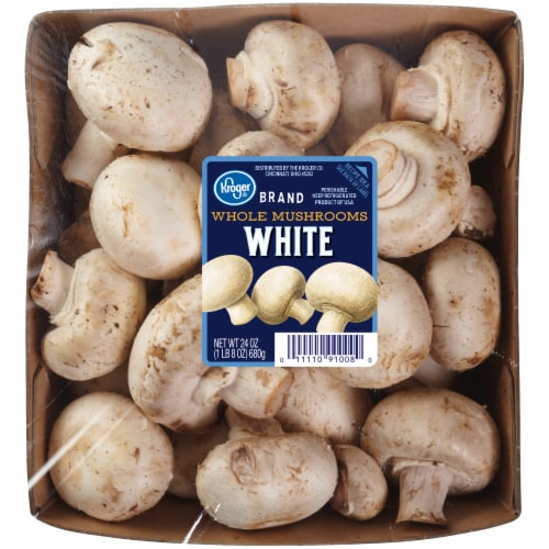 Kroger® Whole White Mushrooms Perspective: front
