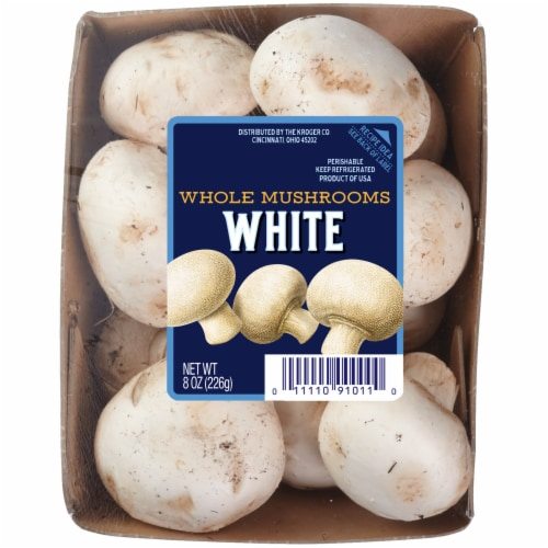 Kroger® White Whole Mushrooms Perspective: front