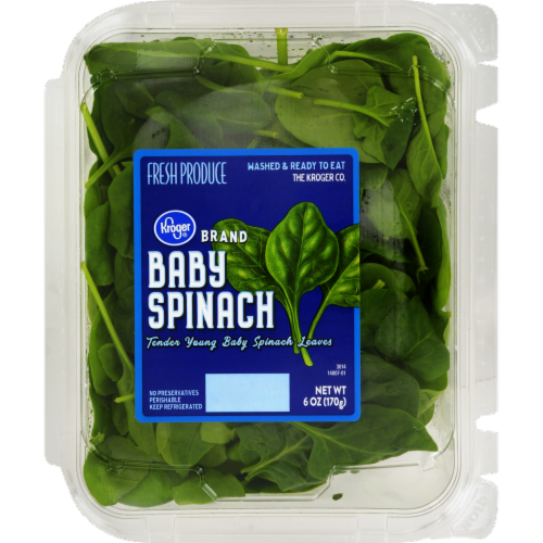 Kroger® Baby Spinach Perspective: front