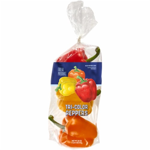 Kroger® Tri-Color Bell Peppers Perspective: front