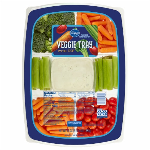 Kroger® Veggie Tray with Dip Perspective: front