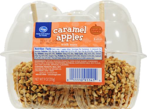 Mariano S Kroger Caramel Apples With Nuts 3 Ct