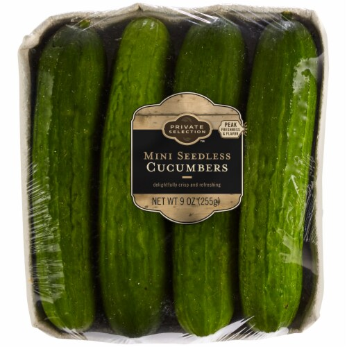 Private Selection™ Mini Seedless Cucumbers Perspective: front