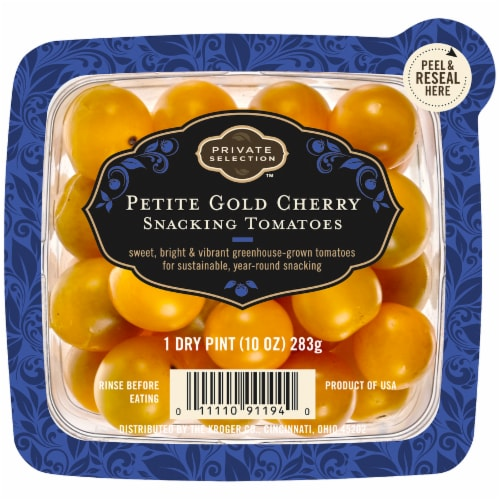 Private Selection™ Petite Gold Cherry Snacking Tomatoes Perspective: front