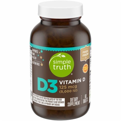 Simple Truth® Vitamin D3 Tablets 5000IU 60 Count Perspective: front