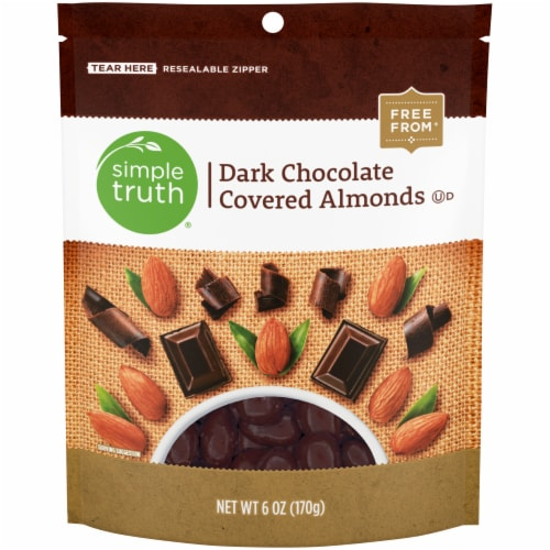 Simple Truth® Dark Chocolate Covered Almonds Perspective: front