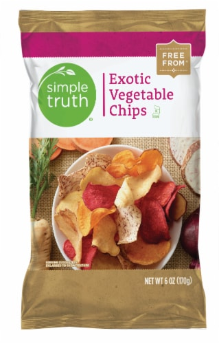 Simple Truth® Exotic Vegetable Chips Perspective: front