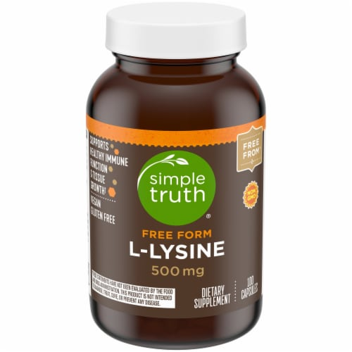 Simple Truth® L-Lysine Capsules 500mg 100 Count Perspective: front