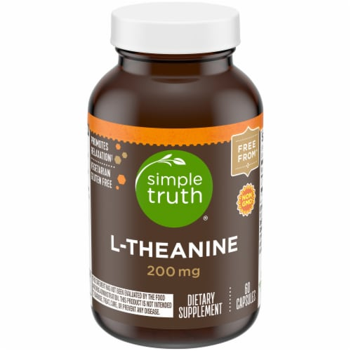 Simple Truth® L-Theanine Capsules 200mg 60 Count Perspective: front