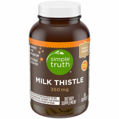 Simple Truth™ Milk Thistle Capsules 350mg 60 Count Perspective: front