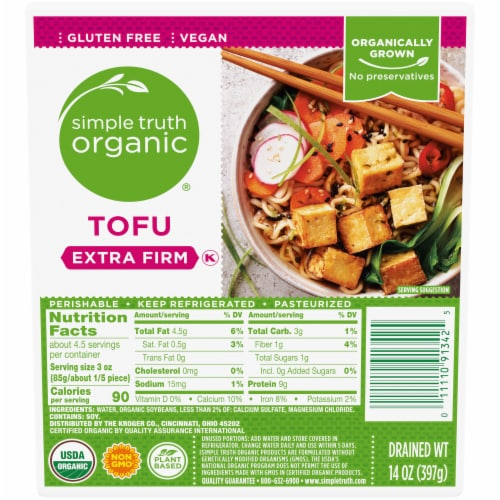 Simple Truth Organic® Extra Firm Tofu Perspective: front