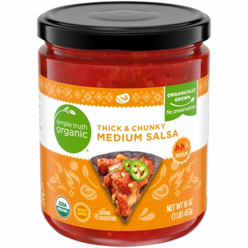 Simple Truth Organic® Thick & Chunky Medium Salsa Perspective: front