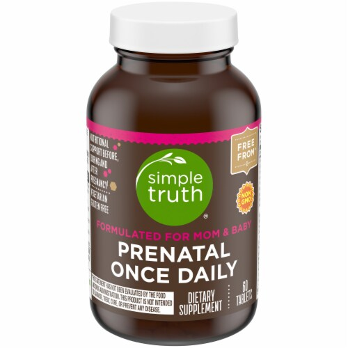 Simple Truth® Prenatal Once Daily Tablets 60 Count Perspective: front
