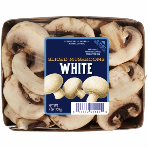 Kroger® Sliced White Mushrooms Perspective: front