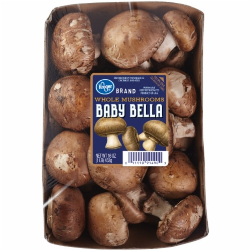 Kroger® Whole Baby Bella Mushrooms Perspective: front