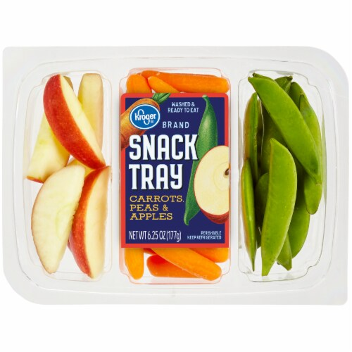 Kroger - Kroger Snack Tray with Carrots Peas & Apples, 6 25 oz