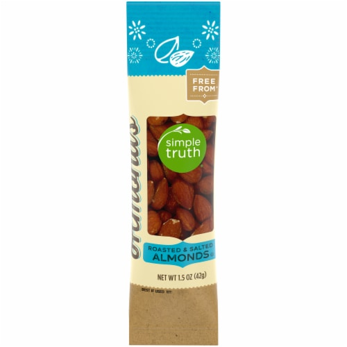 Simple Truth® Roasted & Salted Almonds Perspective: front