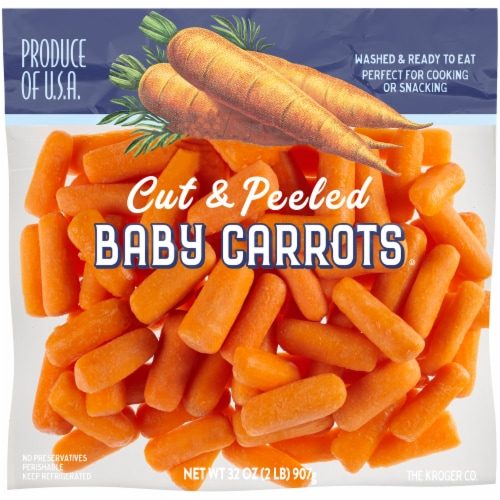 Kroger® Cut & Peeled Baby Carrots Perspective: front