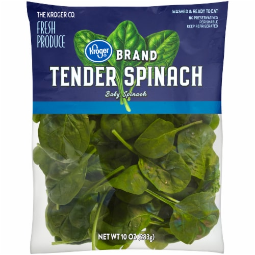 Kroger® Tender Spinach Perspective: front