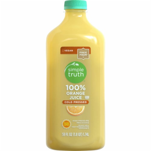 Simple Truth® 100% Cold Pressed Orange Juice Perspective: front