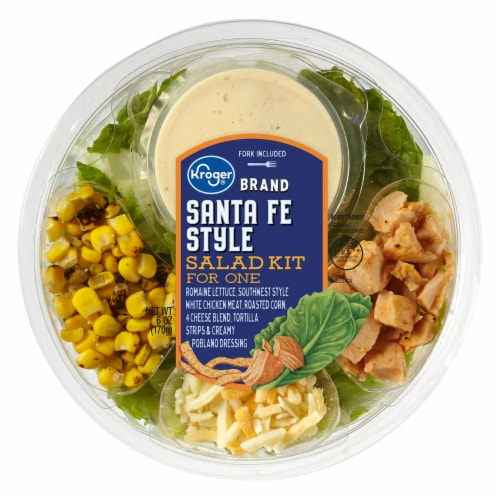 Kroger® Santa Fe Style with Chicken Salad Kit for One Perspective: front