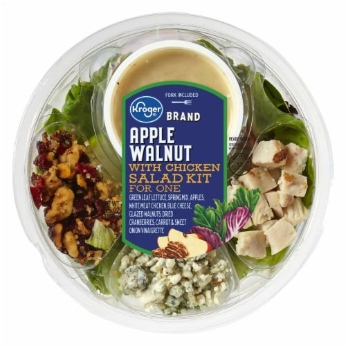 Kroger® Apple Walnut with Chicken Salad Kit for One Perspective: front