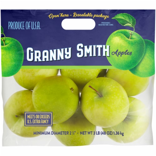 Kroger® Green Granny Smith Apples Pouch Perspective: front