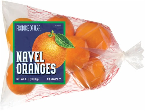 Kroger® Navel Oranges 4lb Bag Perspective: front