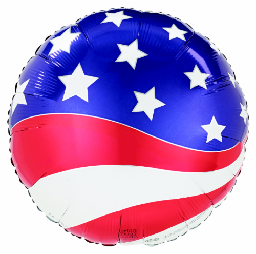 Patriotic Balloon Perspective: front
