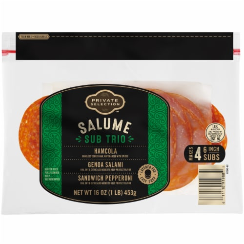 Private Selection™ Salume Sub Trio Lunch Meat Variety Pack Perspective: front