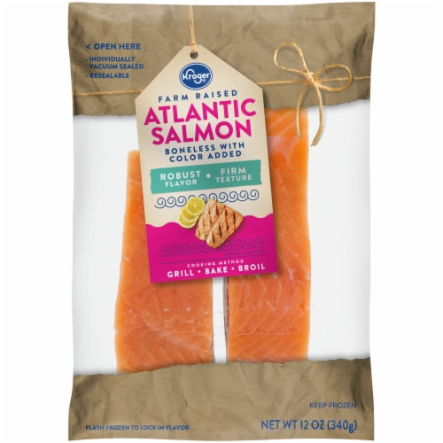 Kroger® Farm Raised Boneless Atlantic Salmon Perspective: front
