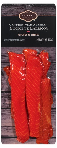 Private Selection™ Candied Wild Alaskan Sockeye Alderwood Smoked Salmon Perspective: front