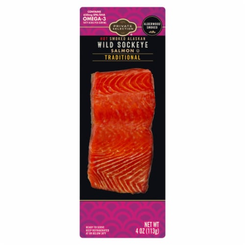 Private Selection® Traditional Hot Smoked Alaskan Wild Sockeye Salmon Perspective: front