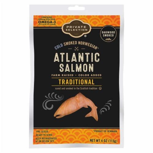 Private Selection® Traditional Cold Smoked Norwegian Atlantic Salmon Perspective: front