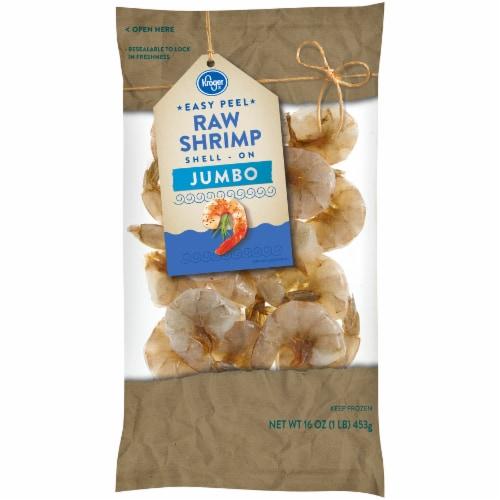 Kroger Shell-On Easy Peel Jumbo Raw Shrimp Perspective: front