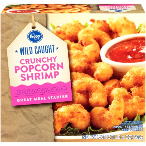 Kroger® Wild Caught Crunchy Popcorn Shrimp Perspective: front