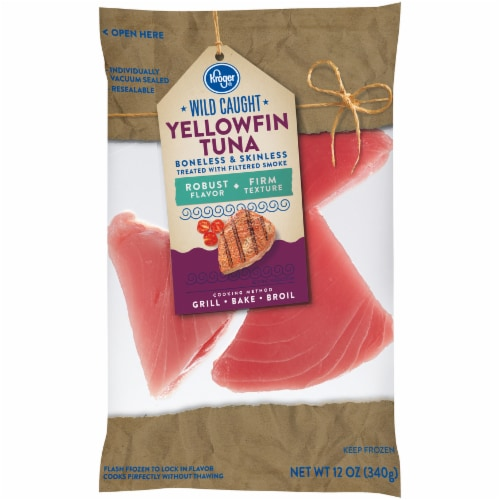 Kroger Wild Caught Boneless & Skinless Yellowfin Tuna Perspective: front