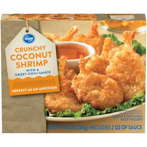 Kroger® Crunchy Coconut Shrimp with Sweet Chili Sauce Perspective: front