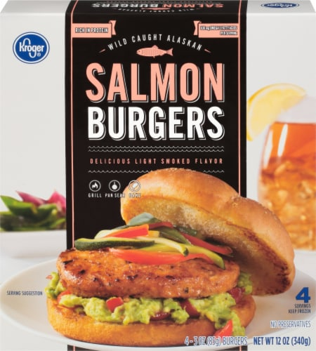 Kroger® Salmon Burgers Perspective: front