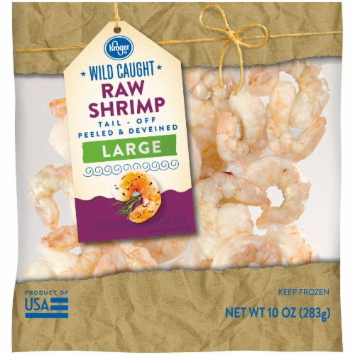 Kroger® Peeled & Deveined Large Raw Shrimp Perspective: front