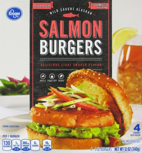 Kroger® Salmon Burger Perspective: front