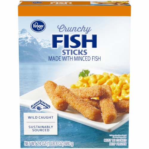 Kroger® Crunchy Fish Sticks Perspective: front