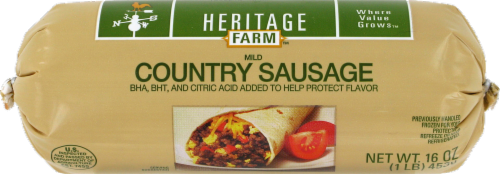 Heritage Farm™ Mild Country Sausage Roll Perspective: front