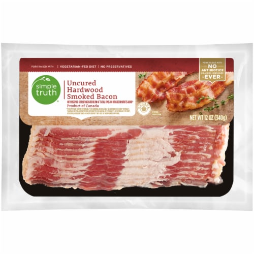 Simple Truth® Uncured Hardwood Smoked Bacon Perspective: front