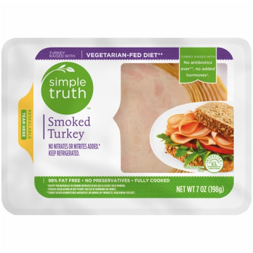Simple Truth™ Smoked Turkey Breast Lunch Meat Perspective: front