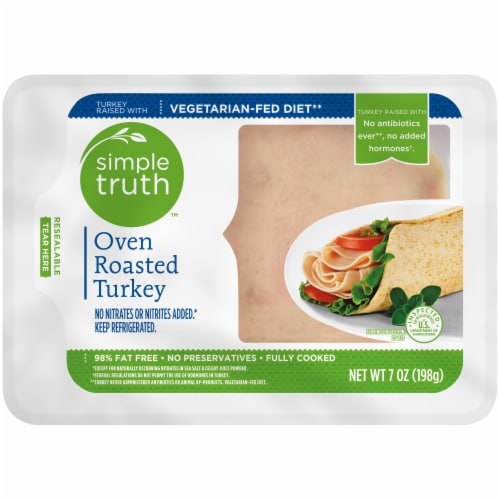 Simple Truth Oven Roasted Turkey Breast Lunch Meat Perspective: front