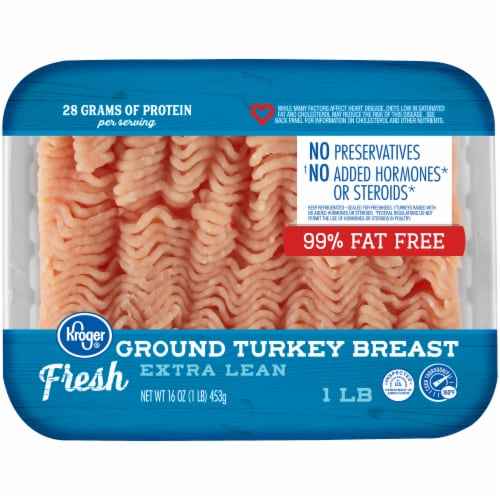 Kroger® Extra Lean 99%b Fat Free Ground Turkey Breast Perspective: front